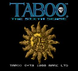 Taboo - The Sixth Sense