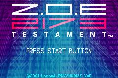 Z.O.E. 2173 - Testament