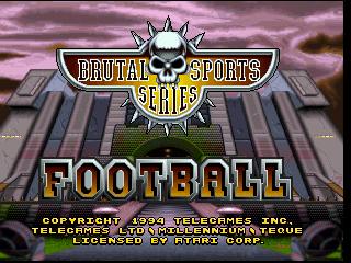 Brutal Sports Football (1994) (Telegames)
